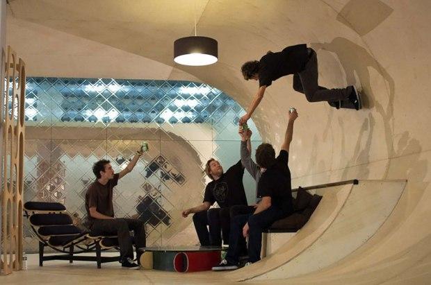 skateboard-ramp-in-home