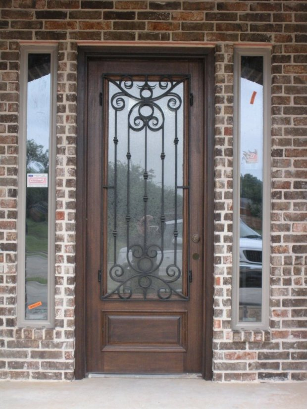 architecture-traditional-doors-of-glass-front-door-with-wrought-brick-wall-decal-architecture-main-door-design-790x1053
