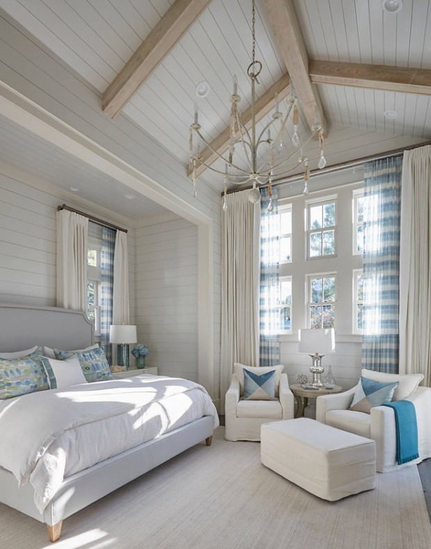 shiplap-bedroom-with-vaulted-ceiling-1