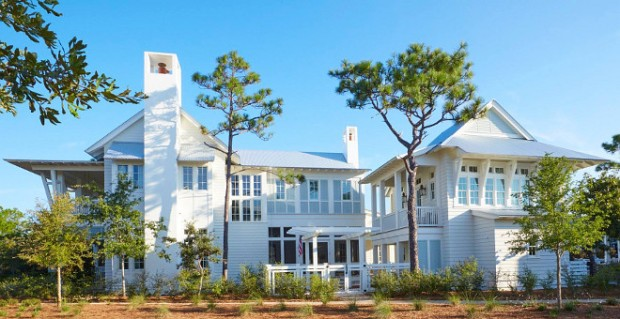 white-beach-house-exterior