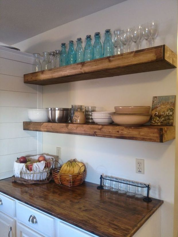 faux-floating-shelves-is-an-easy-DIY-solution-for-kitchen-storage
