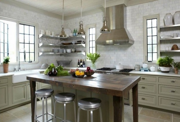 Floating-stainless-steel-kitchen-shelves
