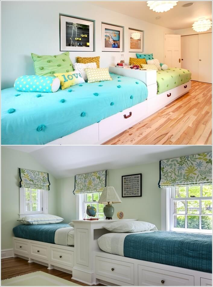 Amazing 2 Single Beds Room Ideas